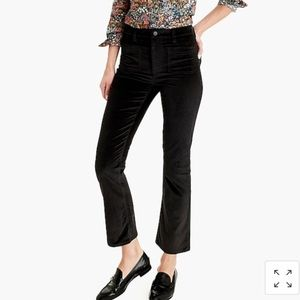 NWT J. Crew Demi-Boot Crop Jean In Velvet